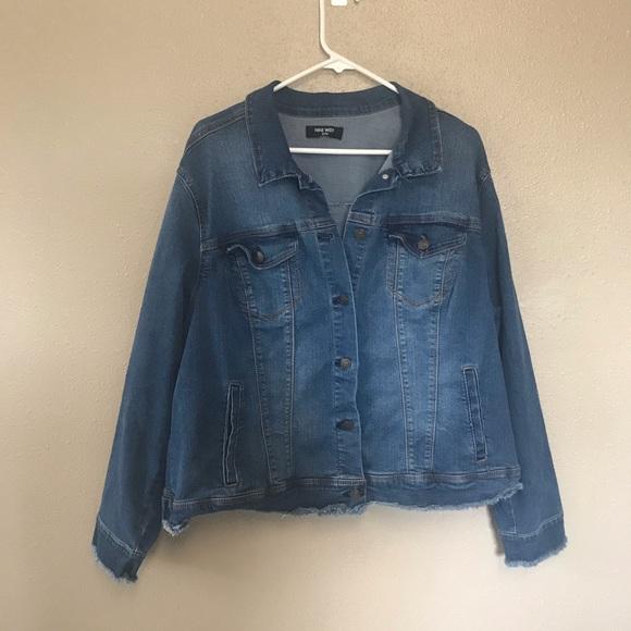 Nine west plus size denim jacket